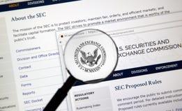 Εγχώριο webpage SEC στοκ εικόνα με δικαίωμα ελεύθερης χρήσης