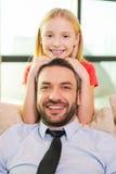 Εγώ και ο πατέρας μου στοκ εικόνες