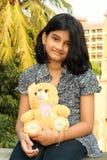 εγώ το teddy κίτρινό μου Στοκ Φωτογραφίες