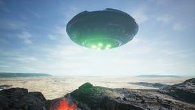 Εδάφη UFO στην έρημο ελεύθερη απεικόνιση δικαιώματος