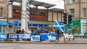 ΕΔΙΜΒΟΥΡΓΟ, ΣΚΩΤΙΑ, UK †«στις 18 Σεπτεμβρίου 2014 - ημέρα δημοψηφισμάτων ανεξαρτησίας Στοκ εικόνες με δικαίωμα ελεύθερης χρήσης