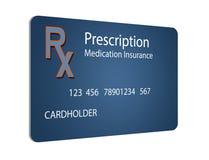 Εδώ είναι μια ασφαλιστική κάρτα ιατρικών συνταγών Είναι μια απεικόνιση στοκ φωτογραφίες με δικαίωμα ελεύθερης χρήσης