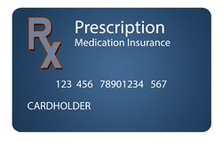 Εδώ είναι μια ασφαλιστική κάρτα ιατρικών συνταγών Είναι μια απεικόνιση στοκ φωτογραφίες