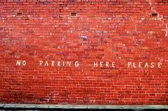 εδώ κανένας χώρος στάθμευσης παρακαλώ Στοκ φωτογραφία με δικαίωμα ελεύθερης χρήσης