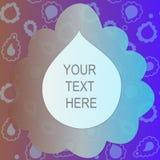 εδώ κείμενό σας Μορφή για το κείμενο διάνυσμα απεικόνιση αποθεμάτων