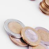 ΕΕ (νομίσματα της Ευρωπαϊκής Ένωσης) Στοκ Φωτογραφία