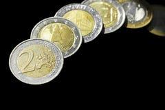 ΕΕ (νομίσματα της Ευρωπαϊκής Ένωσης) Στοκ Φωτογραφίες