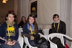 Εθελοντική ομάδα του φεστιβάλ του Cluj κωμωδίας Στοκ εικόνα με δικαίωμα ελεύθερης χρήσης