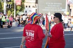 Εθελοντές της Mardi Gras ομοφυλόφιλων και λεσβιών του Σίδνεϊ Στοκ φωτογραφίες με δικαίωμα ελεύθερης χρήσης