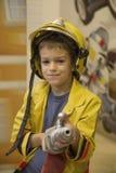 εθελοντής πυροσβέστης λίγα στοκ εικόνες