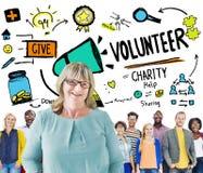 Εθελοντική έννοια βοήθειας δωρεάς εργασίας ανακούφισης φιλανθρωπίας στοκ εικόνες