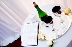 εθιμοτυπικό κρασί Στοκ Εικόνες