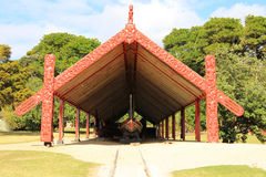 Εθιμοτυπικό Maori πολεμικό κανό Στοκ Εικόνα