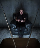 εθισμένα παιχνίδια στο βίν&ta Στοκ φωτογραφία με δικαίωμα ελεύθερης χρήσης
