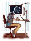 Εθισμός υπολογιστών Στοκ εικόνα με δικαίωμα ελεύθερης χρήσης
