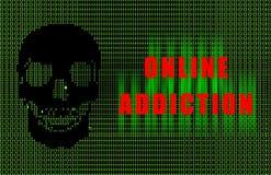 εθισμός on-line Στοκ εικόνες με δικαίωμα ελεύθερης χρήσης