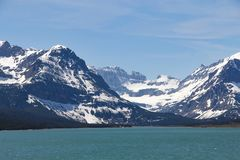 Εθνικά βουνά πάρκων παγετώνων Sherburne λιμνών Στοκ εικόνες με δικαίωμα ελεύθερης χρήσης
