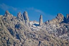Εθνικά γλυπτά πετρών πάρκων βουνών Velebit Στοκ Εικόνες