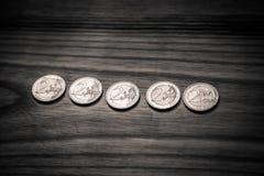 Εθνικά ευρο- νομίσματα επετείου Λετονικό νόμισμα - μονοχρωματικό β Στοκ φωτογραφία με δικαίωμα ελεύθερης χρήσης