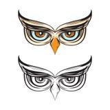 Εθνικά μάτια πουλιών κουκουβαγιών που σύρουν την απεικόνιση διακοσμήσεων φρόνησης διανυσματική απεικόνιση