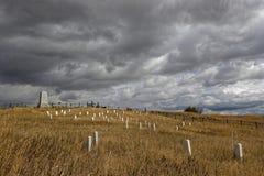 Εθνικά νεκροταφείο και μνημείο Custer σε λίγο Bighorn στοκ φωτογραφίες