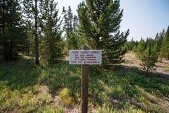 Εθνικά πάρκα Yellowstone στοκ φωτογραφία