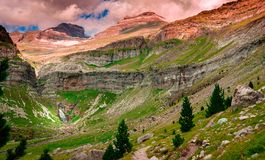 Εθνικά πάρκο και Monte Perdido Ordesa στοκ φωτογραφίες με δικαίωμα ελεύθερης χρήσης