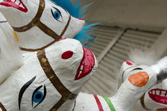 Εθνικά παιχνίδια Μεξικό - άλογα φιαγμένα από πεπιεσμένο χαρτί Στοκ Εικόνες