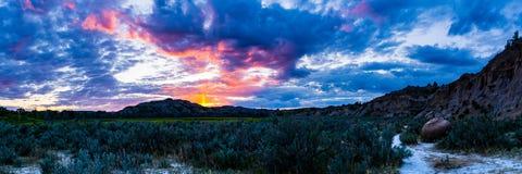 Εθνικά τοπία πάρκων του Θεόδωρος Ρούσβελτ Στοκ φωτογραφία με δικαίωμα ελεύθερης χρήσης