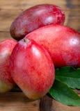 Εθνικά φρούτα της Ινδίας, του Πακιστάν, και του τροπικού οργανικού ώριμου κόκκινου μάγκο των Φιλιππινών έτοιμου να φάει στοκ φωτογραφία με δικαίωμα ελεύθερης χρήσης