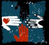 εθνικά χέρια Στοκ φωτογραφία με δικαίωμα ελεύθερης χρήσης