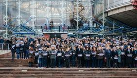 Εθνικές μέρες του πένθους στη Γαλλία Στοκ Φωτογραφίες