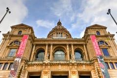 Εθνικές παλάτι και Placa de Espanya - Βαρκελώνη Στοκ φωτογραφία με δικαίωμα ελεύθερης χρήσης