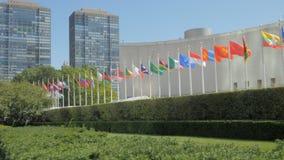 Εθνικές σημαίες έξω από τα Ηνωμένα Έθνη φιλμ μικρού μήκους
