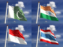 Εθνικές σημαίες Στοκ Φωτογραφίες