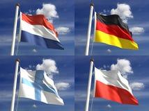Εθνικές σημαίες Στοκ εικόνα με δικαίωμα ελεύθερης χρήσης