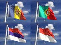 Εθνικές σημαίες Στοκ Εικόνες