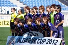 εθνικές s γυναίκες ομάδων ποδοσφαίρου της Ιαπωνίας Στοκ Εικόνες