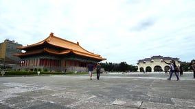 Εθνική αίθουσα θεάτρων και τετραγωνικό maingate ελευθερίας της αναμνηστικής αίθουσας Chiang Kai-Shek στη Ταϊπέι, Ταϊβάν φιλμ μικρού μήκους