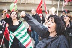Εθνική απεργία του τουρισμού στο Μιλάνο τον Οκτώβριο, 31 2013 στοκ φωτογραφία με δικαίωμα ελεύθερης χρήσης