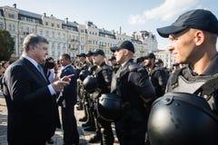 Εθνική αστυνομία της Ουκρανίας Στοκ Φωτογραφία