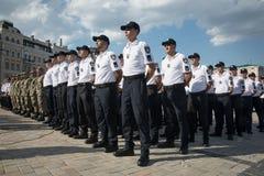Εθνική αστυνομία της Ουκρανίας Στοκ φωτογραφία με δικαίωμα ελεύθερης χρήσης
