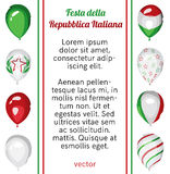 Εθνική αφίσα ημέρας Δημοκρατίας της Ιταλίας διάνυσμα Στοκ Εικόνες