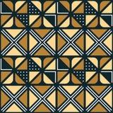 Εθνική αφρικανική διακόσμηση με τα τριγωνικά στοιχεία Στοκ φωτογραφίες με δικαίωμα ελεύθερης χρήσης