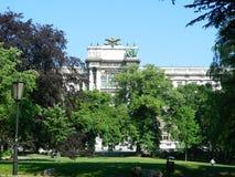 Εθνική βιβλιοθήκη της Αυστρίας στη Βιέννη, Αυστρία Στοκ φωτογραφία με δικαίωμα ελεύθερης χρήσης