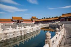 Εθνική γέφυρα Jinshui μουσείων παλατιών του Πεκίνου Στοκ Φωτογραφία