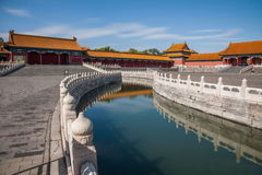 Εθνική γέφυρα Jinshui μουσείων παλατιών του Πεκίνου Στοκ Εικόνα