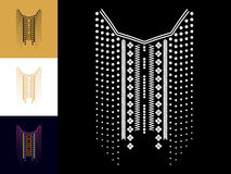 Εθνική γεωμετρική κεντητική γραμμών λαιμών Διακόσμηση για τα ενδύματα στοκ φωτογραφίες με δικαίωμα ελεύθερης χρήσης