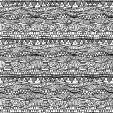 Εθνική γραπτή διακόσμηση με τα λωρίδες, τα τρίγωνα και την μπούκλα Στοκ Εικόνες