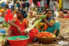 Εθνική γυναίκα από τις αιθιοπικές αγορές Στοκ φωτογραφία με δικαίωμα ελεύθερης χρήσης